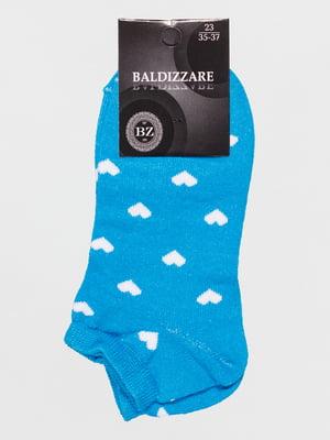 Шкарпетки блакитні в малюнок | 4590645