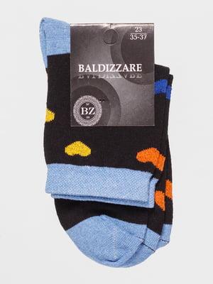 Носки двухцветные с рисунком   4590691