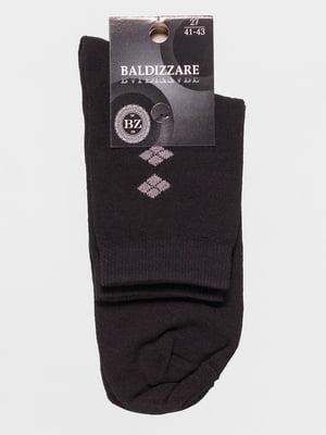 Носки черные с рисунком | 4590725
