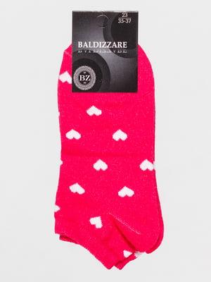 Шкарпетки рожеві в малюнок | 4590646