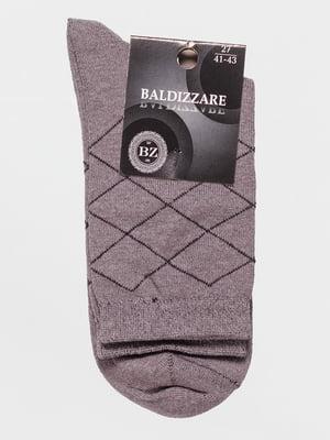 Шкарпетки світло-сірі в ромби | 4590709