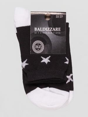 Носки черные в рисунок   4590663
