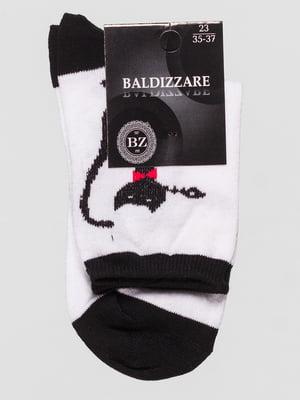 Шкарпетки білі з малюнком | 4590685