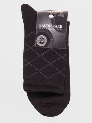 Шкарпетки чорні в ромби | 4590708
