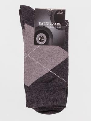 Шкарпетки темно-сірі в ромби | 4590713