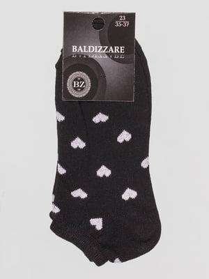 Шкарпетки чорні в малюнок | 4590648