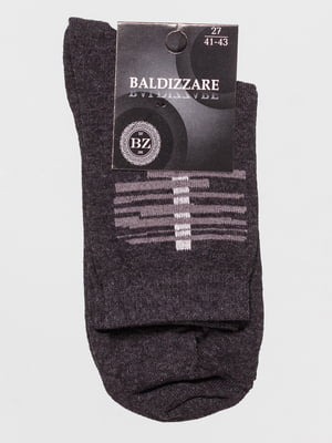 Шкарпетки темно-сірі з малюнком | 4590744
