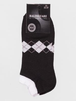 Шкарпетки чорні з ромбами | 4590674