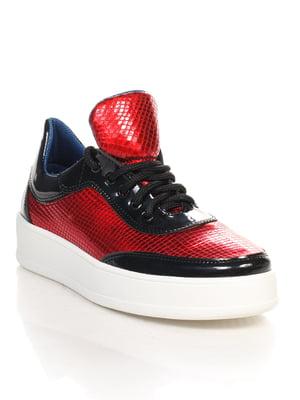 Кроссовки черно-красные | 4618961