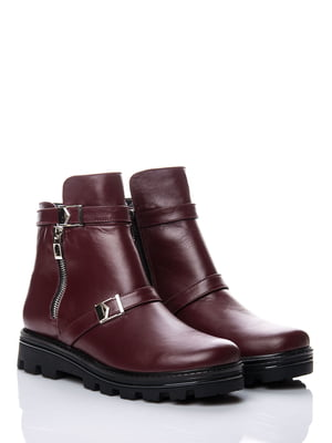 Ботинки бордовые   4625277