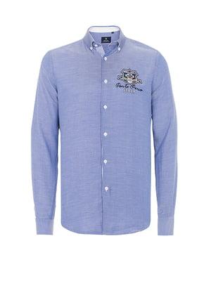 Рубашка голубая | 4625442