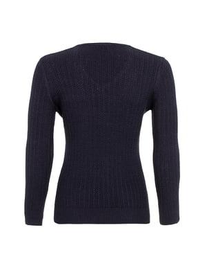 Пуловер темно-синій | 4625545