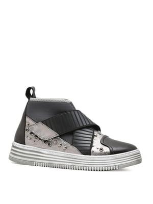 Ботинки черно-серые | 4621819