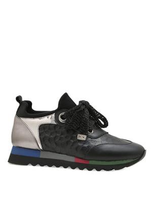 Кроссовки черно-серебристые | 4621924