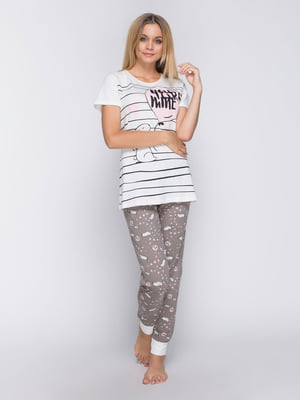 Пижама: футболка и брюки | 4611321