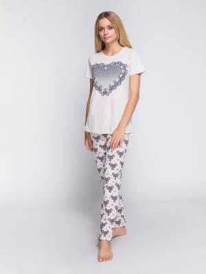 Пижама: футболка и брюки | 4611323
