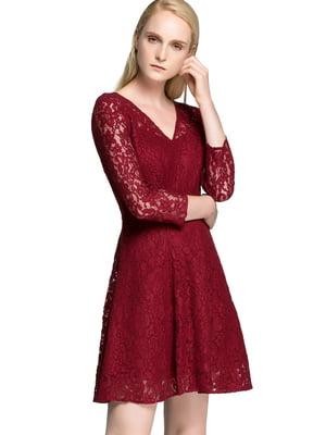 Сукня бордова | 4597511