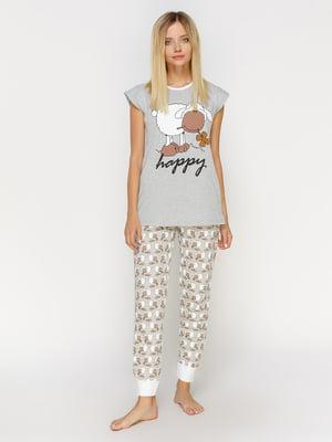 Пижама: футболка и брюки | 4611314