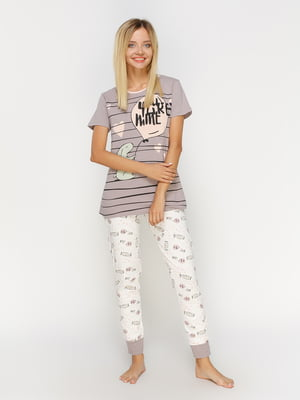 Пижама: футболка и брюки | 4611320