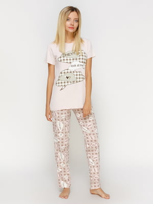 Пижама: футболка и брюки | 4611319