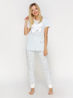 Пижама: футболка и брюки | 4611317