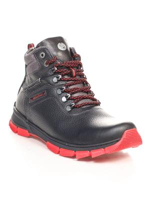 Черевики чорно-червоні | 4547811