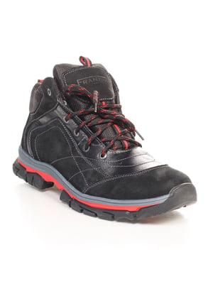 Ботинки черно-красные | 4618933