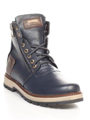 Ботинки сине-коричневые | 4618917