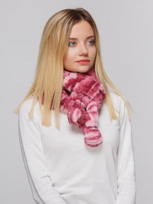 Шарф рожево-бордовий | 4626693