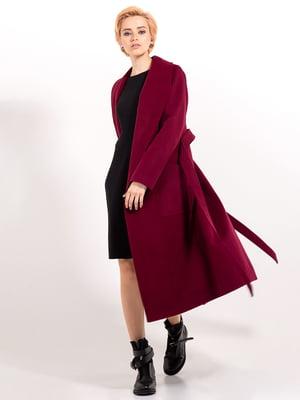Пальто бордовое | 4623076
