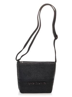 Сумка чорна з вишивкою | 4626687