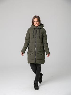 Пальто кольору хакі | 4631138