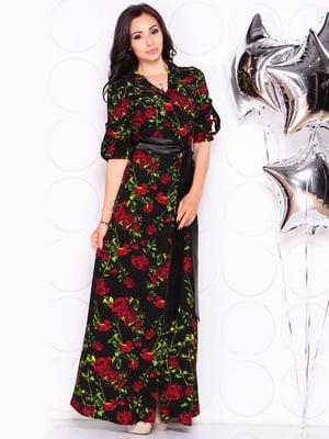 Платье в цветочный принт | 4619531