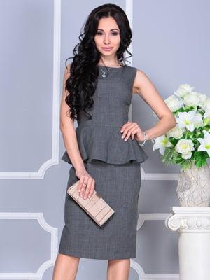 Платье-сарафан графитового цвета | 4619750