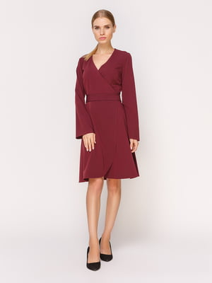 Платье цвета марсала | 4631552