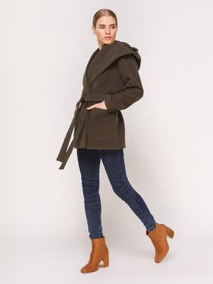 Пальто оливкового кольору   4631556