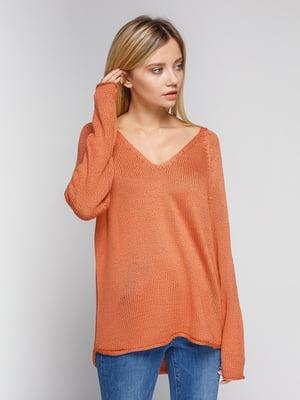 Пуловер кирпичного цвета   4600142