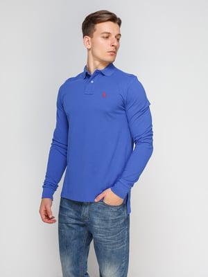 Джемпер-поло цвета электрик с вышивкой | 4622584