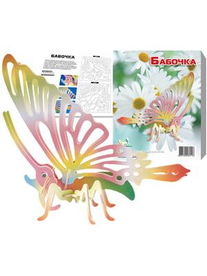Сборная модель из дерева, 3D пазл «Бабочка» | 4635082