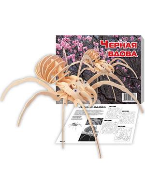 Збірна модель з дерева, 3D пазл «Чорна Вдова» | 4635086