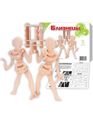 Збірна модель з дерева, 3D пазл «Близнюки» | 4635090