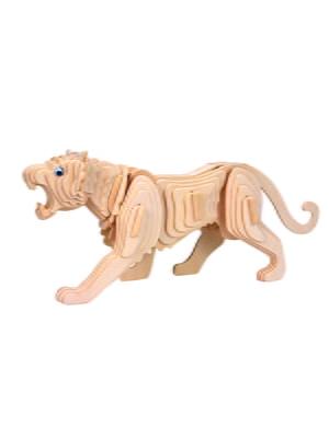Сборная модель из дерева, 3D пазл «Тигр» | 4635102