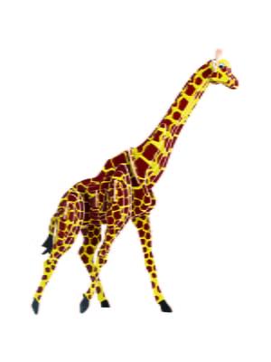 Сборная модель из дерева, 3D пазл «Жираф» (серия М цветная) | 4635105