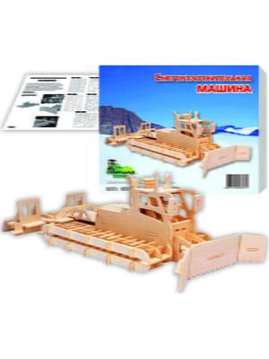 Сборная модель из дерева, 3D пазл «Снегоуплотнительная машина» | 4635111