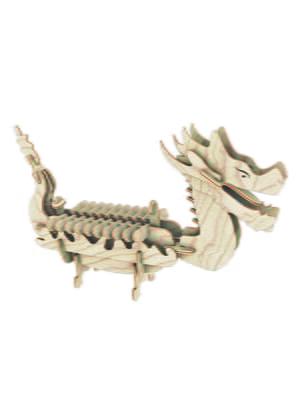 Сборная модель из дерева, 3D пазл «Лодка Дракона» | 4635113