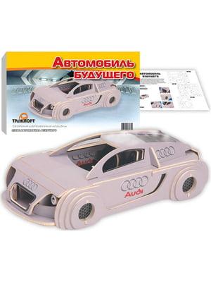 Сборная модель из дерева, 3D пазл «Автомобиль будущего» (цветной) | 4635115