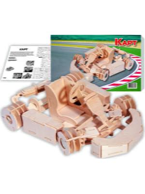 Збірна модель з дерева, 3D пазл «Карт» | 4635116