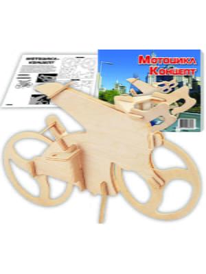 Сборная модель из дерева, 3D пазл «Мотоцикл-концепт»   4635119