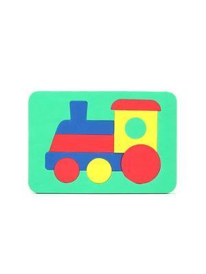 Игрушка рамка-вкладыш мозаика «Паровоз» | 4635133