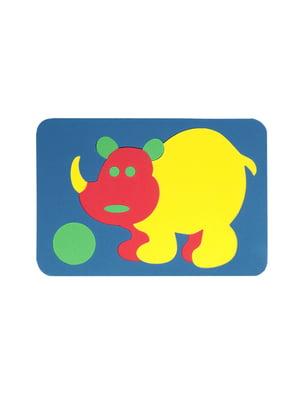 Игрушка рамка-вкладыш мозаика «Носорог» | 4635137